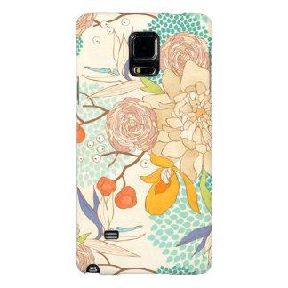 Modern Rose Peony Flower Pattern Galaxy Note 4 Case