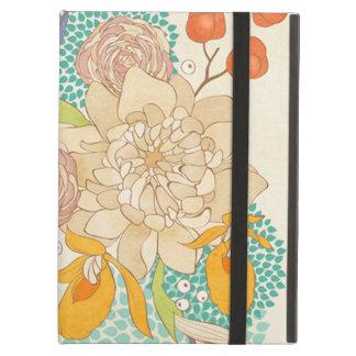 Modern Rose Peony Flower Pattern iPad Air Case