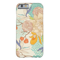 Modern Rose Peony Flower Pattern iPhone 6 Case