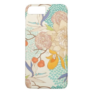 Modern Rose Peony Flower Pattern iPhone 7 Plus Case