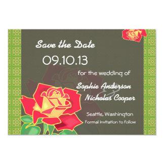 "Modern Rose Save the Date Invitation 5"" X 7"" Invitation Card"