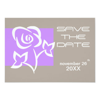 Modern Rose Save the Date Invitation Card