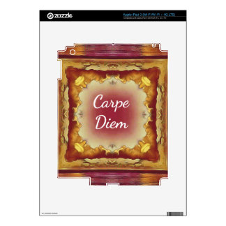 Modern Rose Yellow 'Carpe Diem' Artistic Pattern iPad 3 Skins