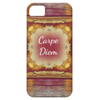 Modern Rose Yellow 'Carpe Diem' Artistic Pattern iPhone SE/5/5s Case