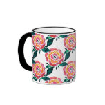 Modern Roses Mug Stained Glass Watercolor Floral
