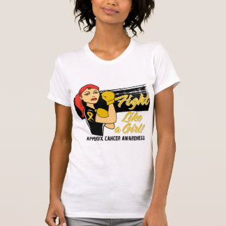 Modern Rosie Fight Like a Girl - Appendix Cancer Shirt