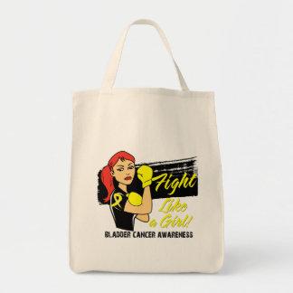 Modern Rosie Fight Like a Girl - Bladder Cancer Tote Bag