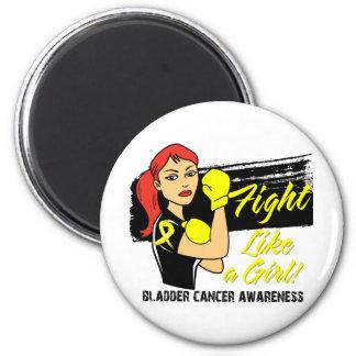 Modern Rosie Fight Like a Girl - Bladder Cancer Fridge Magnet