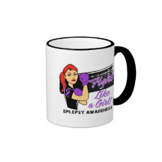 Modern Rosie Fight Like a Girl - Epilepsy Coffee Mugs