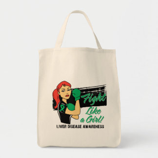 Modern Rosie Fight Like a Girl - Liver Disease Tote Bags