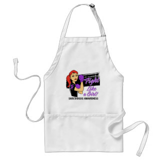 Modern Rosie Fight Like a Girl - Sarcoidosis Adult Apron