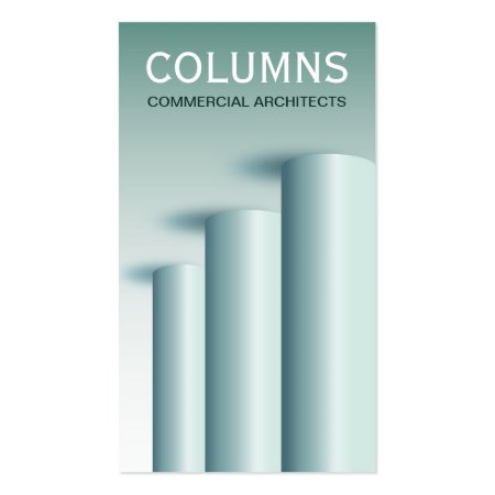 Stylish Round Columns Modern Architecture Commercial Architects Business Card Template