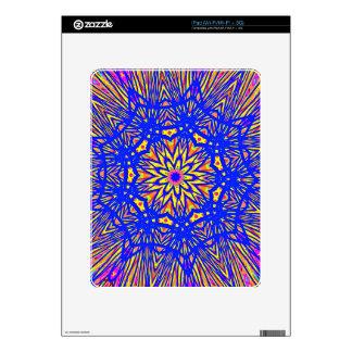 Modern Royal Blue Webbed Mandala Pattern Decals For The iPad