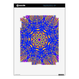 Modern Royal Blue Webbed Mandala Pattern iPad 2 Skins