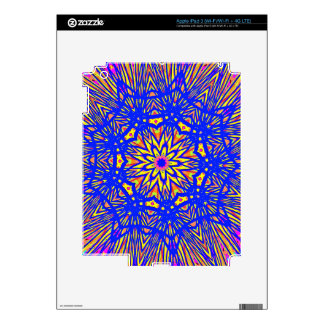 Modern Royal Blue Webbed Mandala Pattern iPad 3 Decal