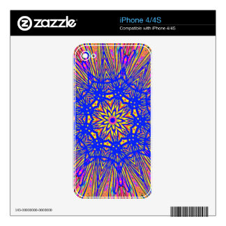 Modern Royal Blue Webbed Mandala Pattern iPhone 4 Skins