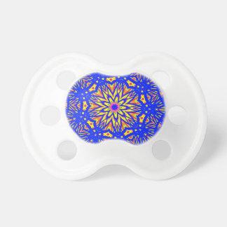 Modern Royal Blue Webbed Mandala Pattern Pacifier