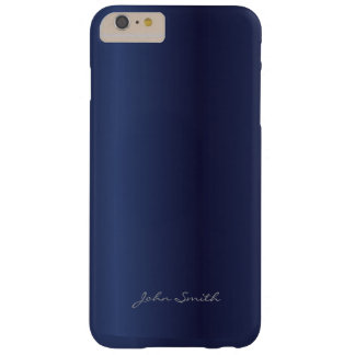 Modern Royal Blue with Custom Name Barely There iPhone 6 Plus Case
