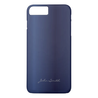 Modern Royal Blue with Custom Name iPhone 7 Plus Case