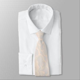 Modern Royal Pastel Crema White Lace Neck Tie