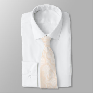 Modern Royal Pastel Crema White Lace Tie