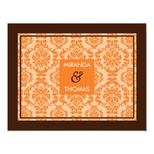 MODERN RSVP REPLY CARD :: damask colors 8