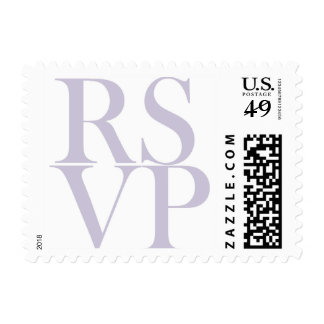 Modern RSVP stamp