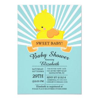 Modern Rubber Duck Neutral Baby Shower Invitation