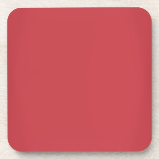 Modern Ruby Red Customizable Drink Coaster