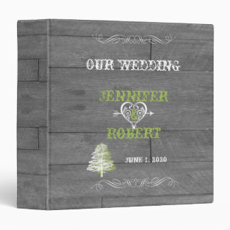 Modern Rustic Barn Wood Wedding Album Binder