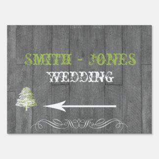 Modern Rustic Barn Wood Wedding Direction Sign