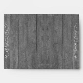 Modern Rustic Barn Wood Wedding Envelope