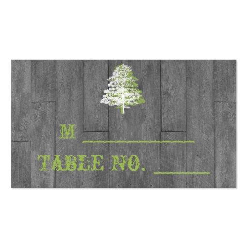 Modern Rustic Barn Wood Wedding Place Cards Business Card
