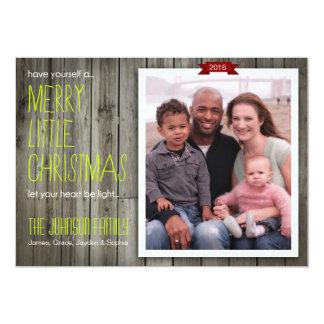 Modern Rustic Beachy Christmas Photo Card