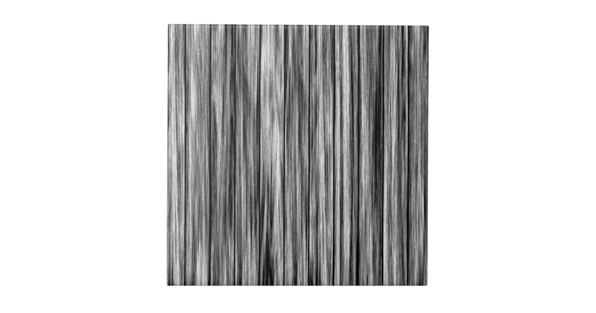 Modern Rustic Black Gray Wood Grain Pattern Ceramic Tile