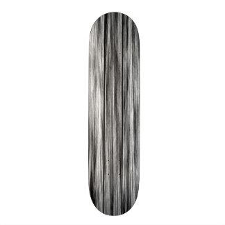 Modern rustic black gray wood grain pattern skateboard deck