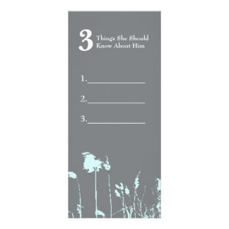 Modern Rustic Country Wedding Party Game Card