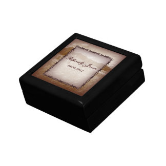Modern Rustic Country Wedding Ring Box Jewelry Box
