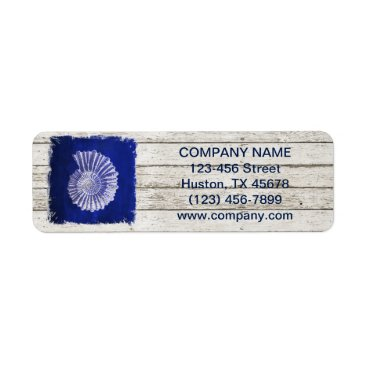businesscardsdepot modern rustic drift wood blue seashells nautical label
