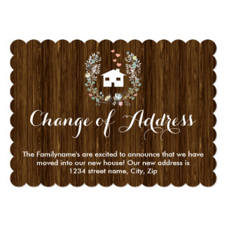 Modern & Rustic Floral Moving Announcement