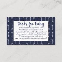 Modern Rustic Gray & Navy Deer Book Request Enclosure Card