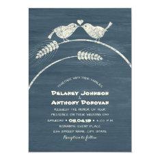 Modern Rustic Love Bird Wedding Country Wood Card at Zazzle