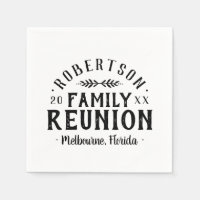 Modern Rustic Personalized Family Reunion