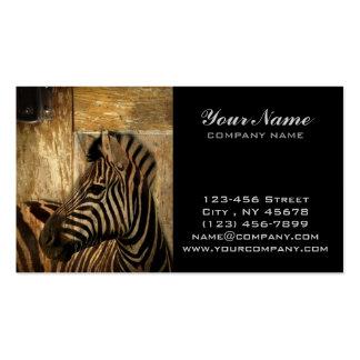 modern rustic safari animal print zebra business card
