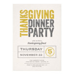 Modern Rustic Thanksgiving Dinner Party Invitations