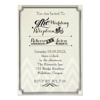 modern rustic  vintage Typography wedding 5x7 Paper Invitation Card