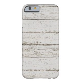 modern  rustic white barn wood woodgrain barely there iPhone 6 case