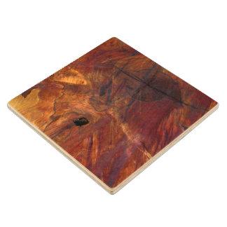 Modern Rustic Wood Burl Knot Log Slice Wood Coaster