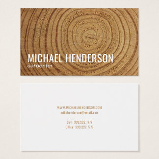 Modern Rustic Wood Carpentry Professional Business Card