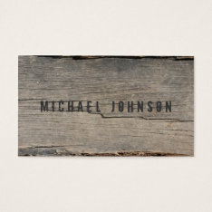 Modern Rustic Wood Unique Business Card at Zazzle